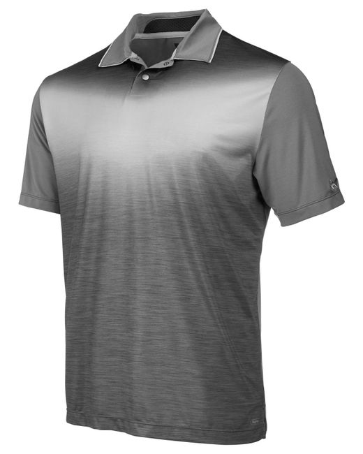 Greg Norman - Gray Ombré Chevron Polo, Created For Macy's for Men - Lyst