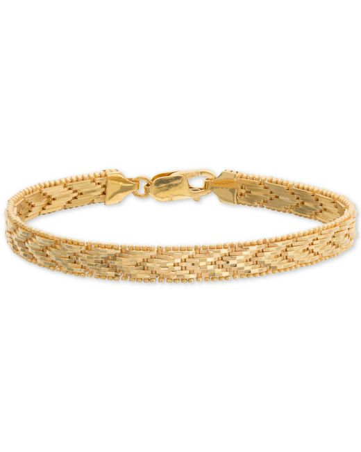 Giani Bernini - Metallic Riccio Chevron Link Bracelet In 18k Gold-plated Sterling Silver, Created For Macy's - Lyst