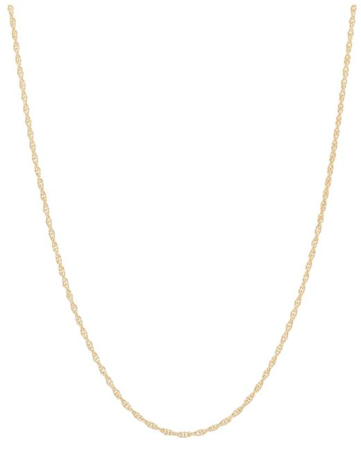 """Macy's - Metallic 14k Gold Necklace, 18"""" Light Rope Chain (1mm) - Lyst"""