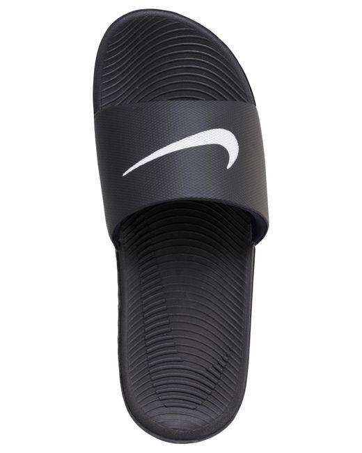 f3df16168663 ... Nike - Black Kawa Slide Sandals From Finish Line for Men - Lyst ...