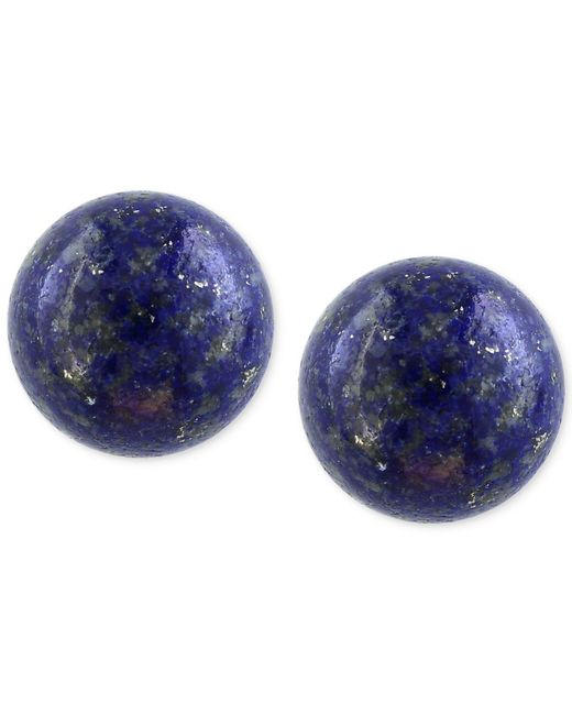 Effy Collection - Blue Lapis Lazuli (10mm) Button Stud Earrings In 14k Gold - Lyst