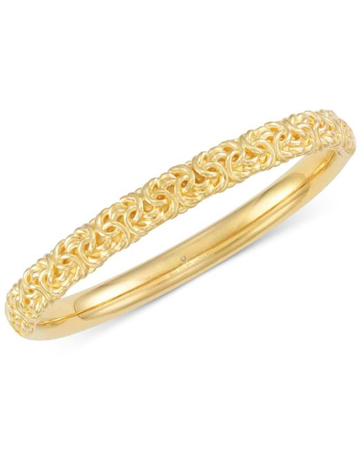 Signature Gold - Metallic Byzantine Bangle Bracelet In 14k Gold Over Resin - Lyst