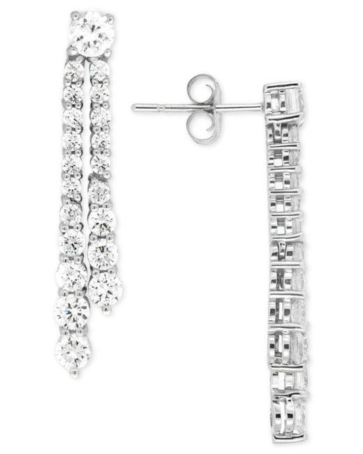 Wrapped in Love - Diamond Linear Drop Earrings (2 Ct. T.w.) In 14k White Gold - Lyst
