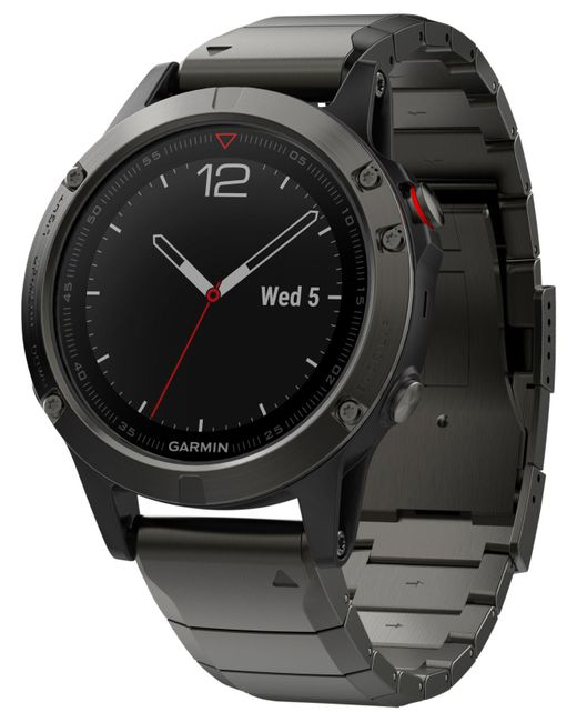 Garmin - Men's Fenix 5 Sapphire Black/gray Convertible Strap Smart Watch 47mm 010-01688-20 for Men - Lyst