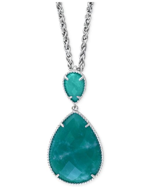 Effy Collection - Metallic Amazonite Pendant Necklace (15-3/4 Ct. T.w.) In Sterling Silver - Lyst