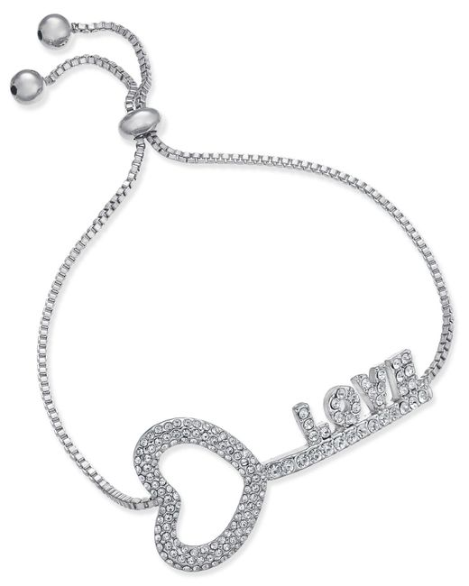Joan Boyce | Metallic Pavé Love Key Slider Bracelet | Lyst
