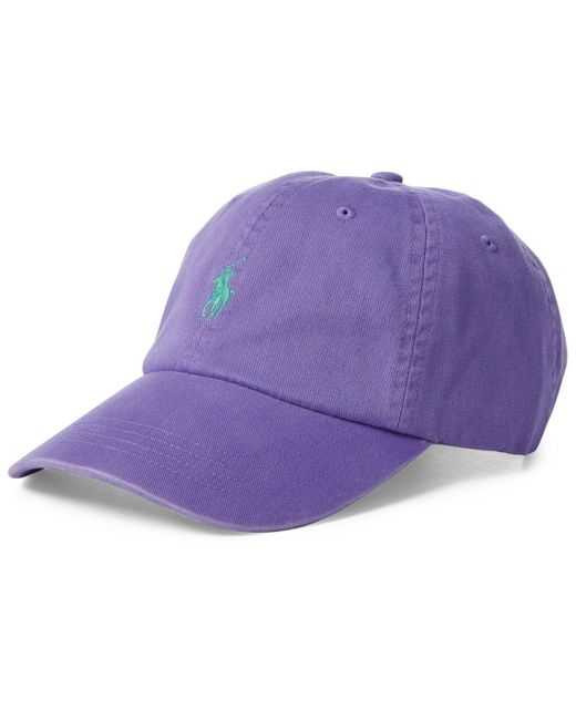 7ddfe89d9c3 Polo Ralph Lauren - Purple Classic Chino Cotton Cap for Men - Lyst ...