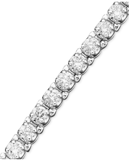 Macy's - Metallic Diamond Bracelet In (3-1/3 Ct. T.w.) 14k White Gold - Lyst