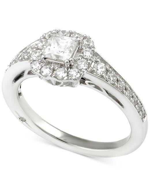 Marchesa - Metallic Certified Diamond Princess Engagement Ring (1 Ct. T.w.) In 18k White Gold - Lyst
