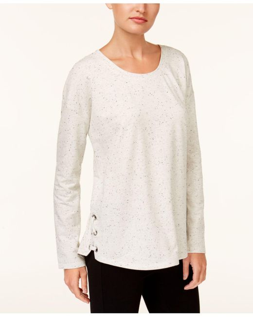 Style & Co. | White Lace-up Sweatshirt | Lyst