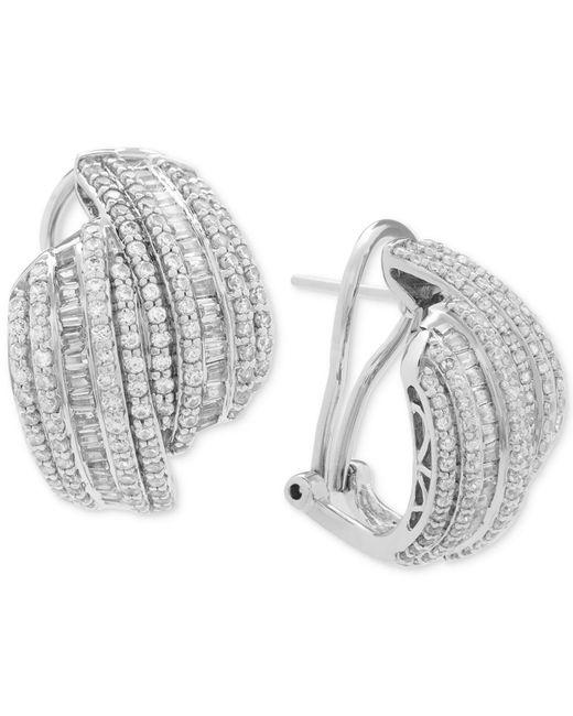 Wrapped in Love - Metallic Diamond Drop Earrings (2 Ct. T.w.) In Sterling Silver - Lyst