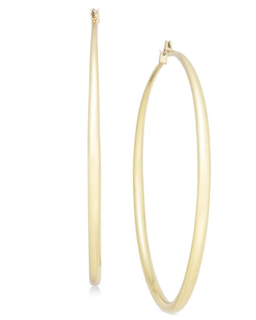 INC International Concepts - Metallic Gold-tone Slim Hoop Earrings - Lyst