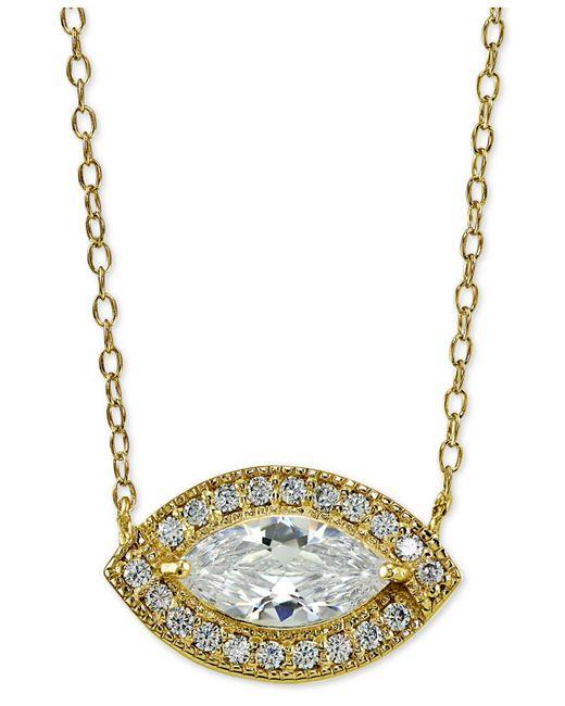 Giani Bernini | Metallic Sterling Silver Cubic Zirconia Pendant Necklace | Lyst