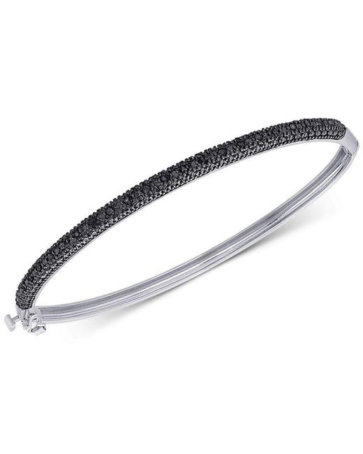 Macy's | Metallic Diamond Bangle Bracelet (1/4 Ct. T.w.) In Sterling Silver | Lyst