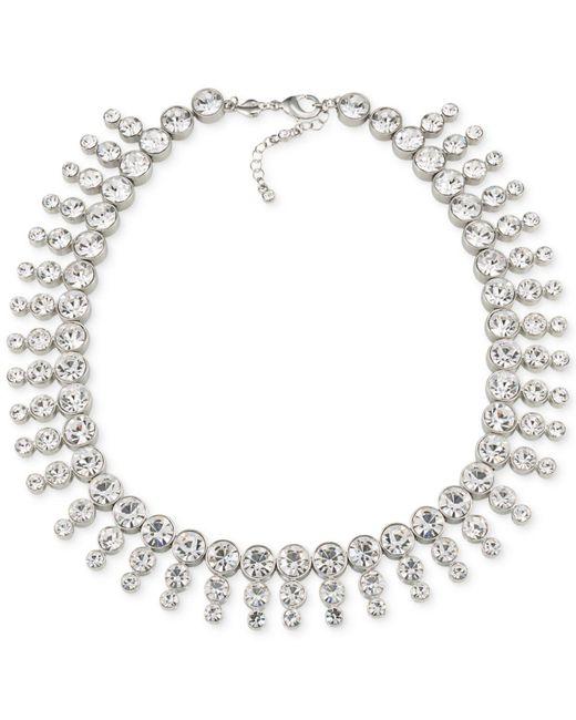 Carolee - Metallic Silver-tone Collar Necklace - Lyst