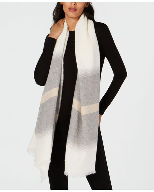 Eileen Fisher - Multicolor Alpaca Striped Scarf - Lyst