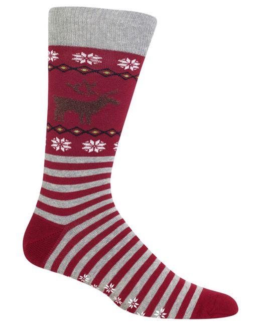 Hot Sox   Red Men's Reindeer Socks for Men   Lyst