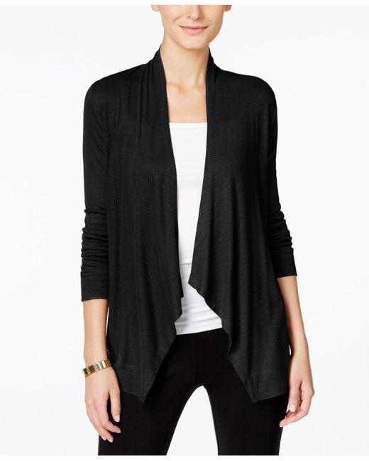 INC International Concepts | Black Long-sleeve Open-front Cardigan | Lyst