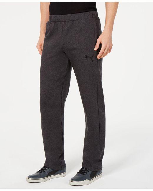 13642d23cf92 PUMA - Gray Drycell Fleece Pants for Men - Lyst ...