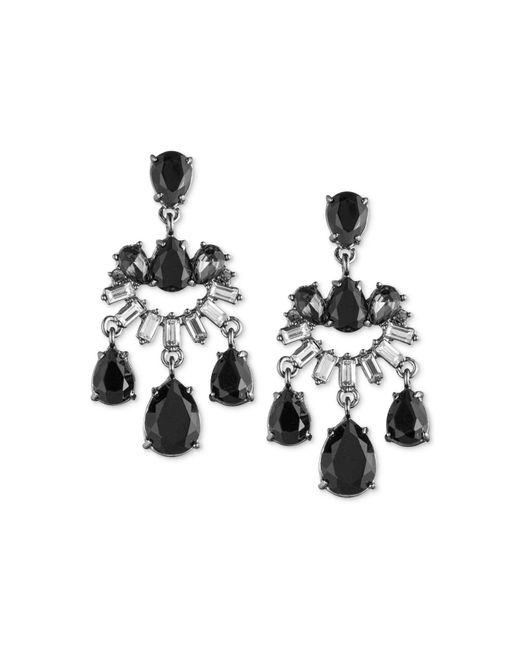 Carolee - Black Midnight Tower Mini Chandelier Earrings - Lyst