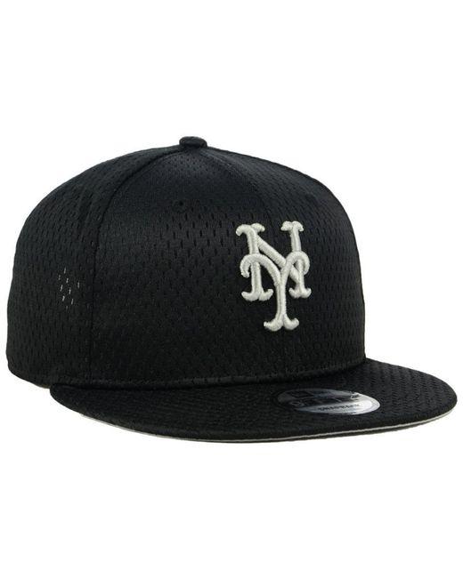 separation shoes c92ee 3f3a4 ... KTZ - Black New York Mets Batting Practice Mesh 9fifty Snapback Cap for  Men - Lyst ...