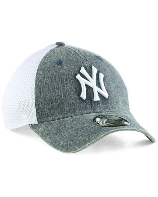 b55903f3936 ... promo code ktz blue new york yankees hooge neo 39thirty cap for men lyst  2db0f 25ca2