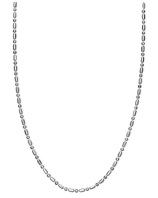 "Giani Bernini - Metallic Sterling Silver Necklace, 24"" Dot Dash Link - Lyst"