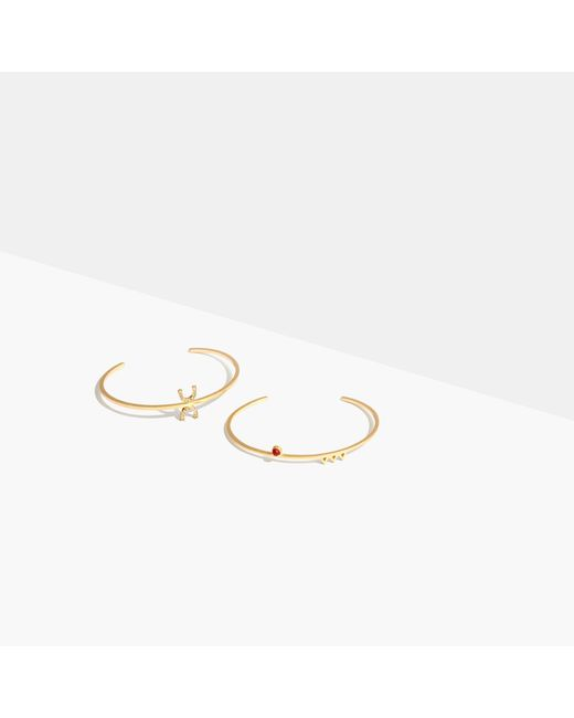 Madewell   Metallic Tiny Jewels Red Agate Bracelet Set   Lyst