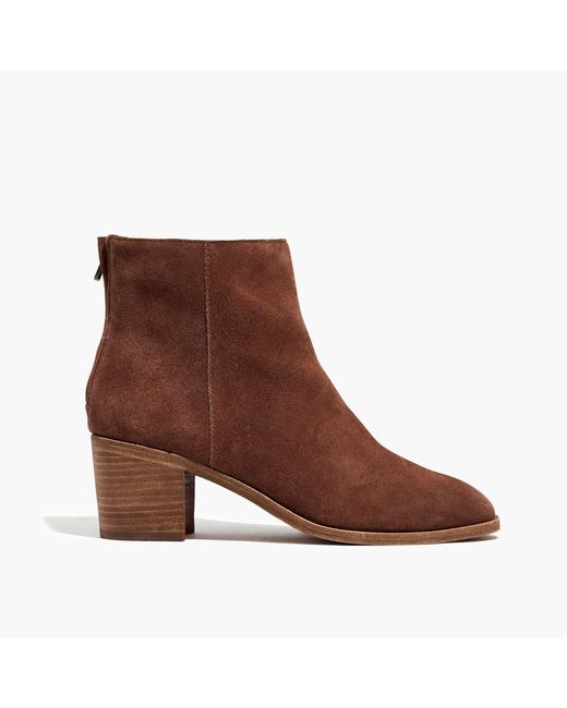 Madewell | Brown The Pauline Boot In Suede | Lyst
