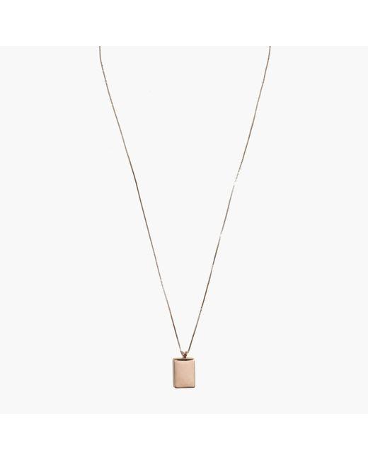Madewell | Metallic Demi-fine Bronze Locket Necklace | Lyst
