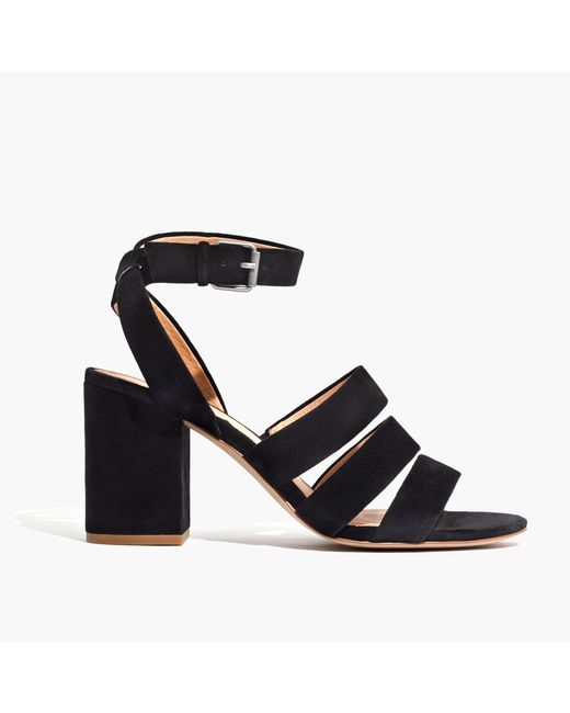 Madewell | Black The Maria Sandal In Suede | Lyst