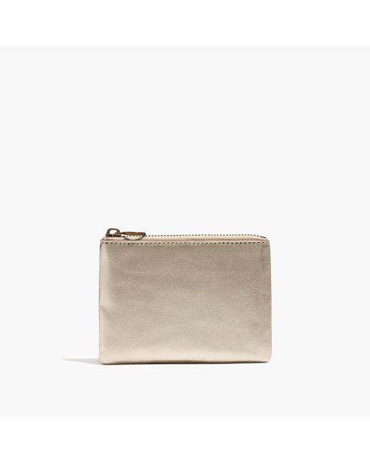 Madewell | The Leather Pouch Wallet In Metallic | Lyst