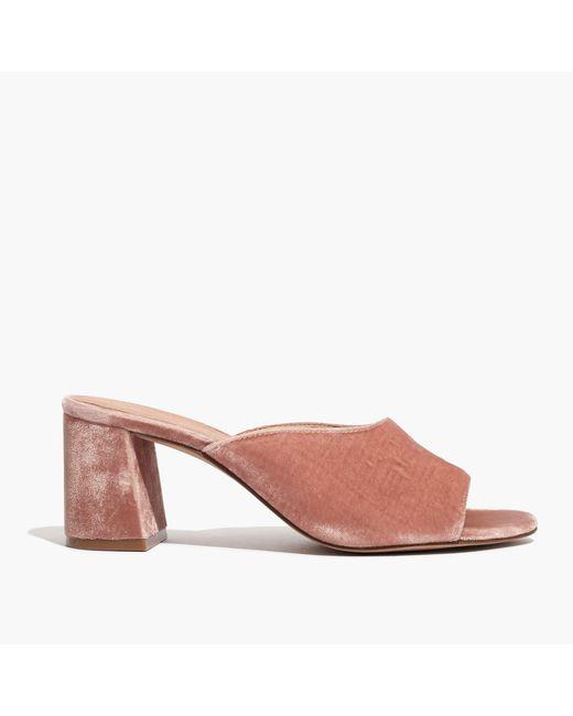 Madewell | Pink The Beatriz Mule In Velvet | Lyst