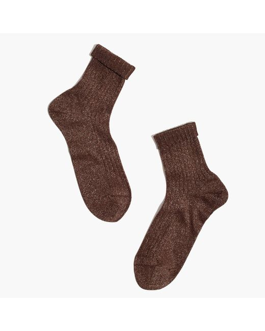 Madewell | Brown X Hansel From Baseltm Ribbed Sparkle Socks | Lyst