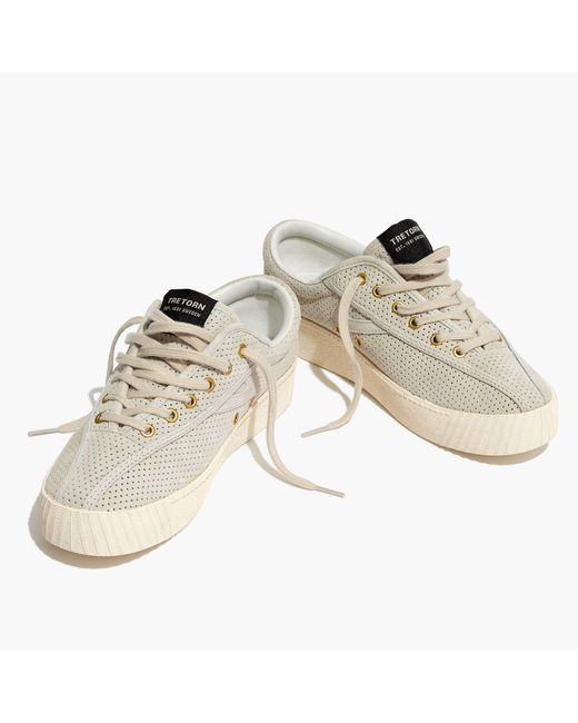 Madewell - Natural Tretorn® Nylite Bold Iii Perforated Platform Sneakers - Lyst