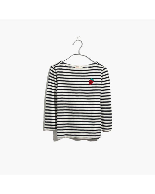 Madewell - Multicolor X Crewcuts Kids' Strawberry Embroidered Striped Tee - Lyst
