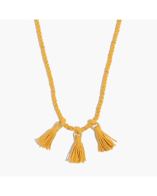 Madewell - Metallic Rope & Tassel Necklace - Lyst