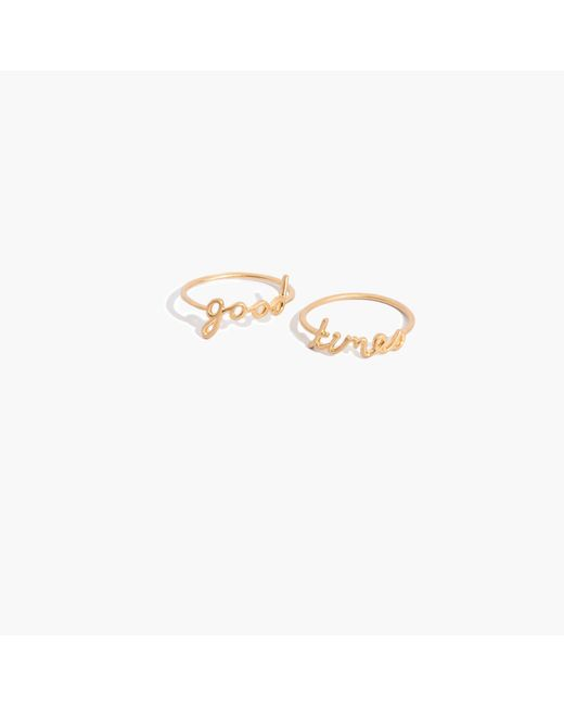 Madewell | Metallic Good Times Ring Set | Lyst