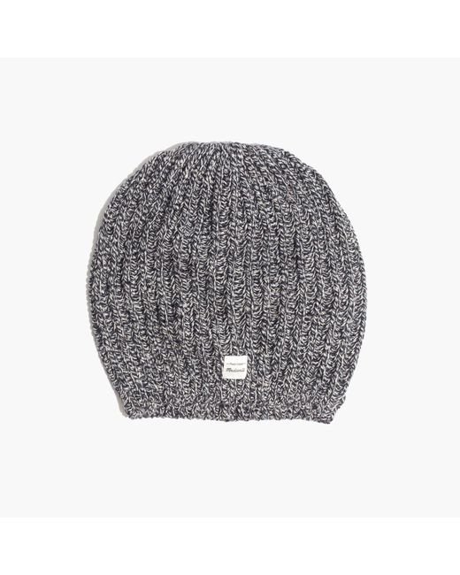 Madewell - Gray Softest Ribbed Beanie - Lyst