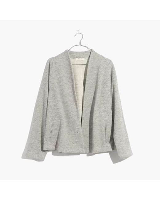 Madewell   Gray Terry Swing Jacket   Lyst