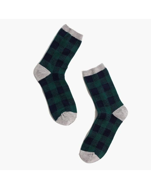 Madewell - Green Buffalo Check Trouser Socks - Lyst