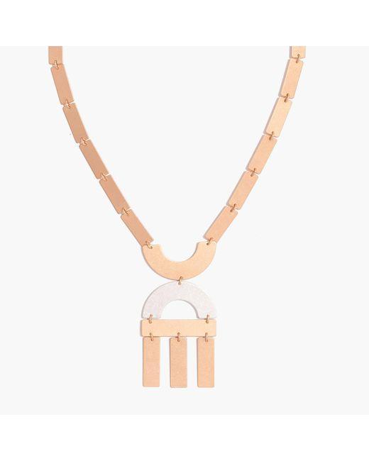Madewell | Metallic Flatform Statement Necklace | Lyst