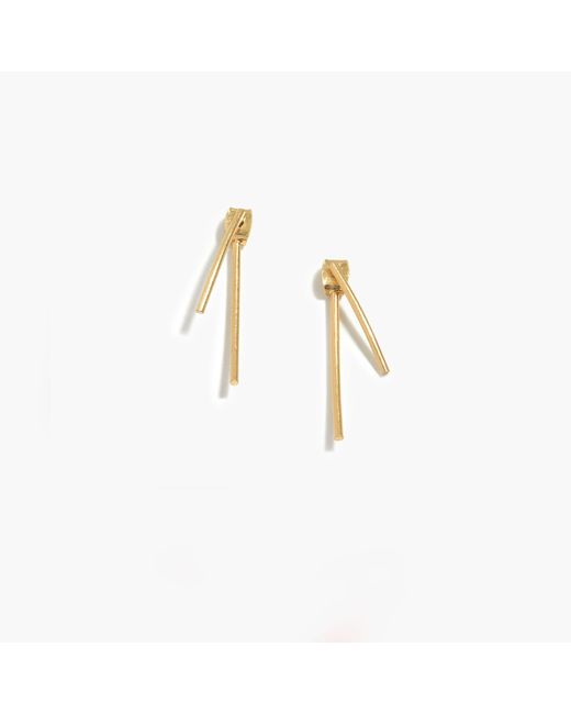 Madewell | Metallic Stembend Earrings | Lyst