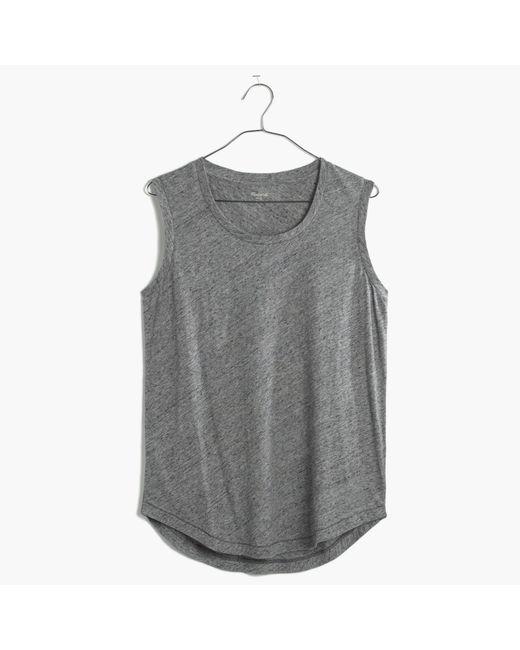 Madewell | Metallic Whisper Cotton Crewneck Muscle Tank | Lyst