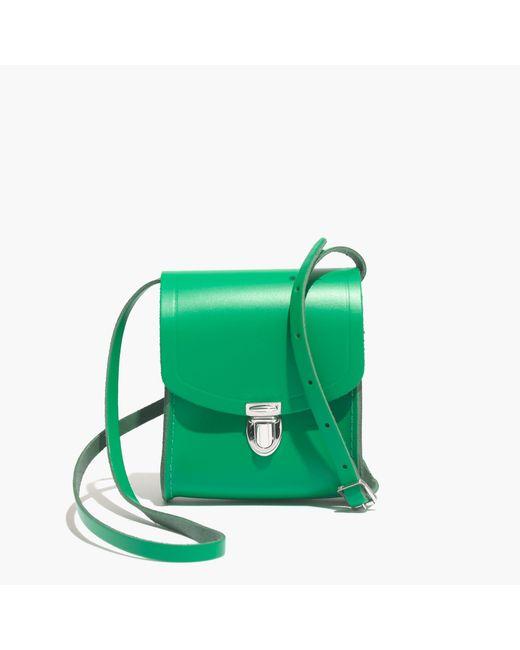 Madewell   Green The Cambridge Satchel Company® Mini Push Lock Crossbody Bag   Lyst