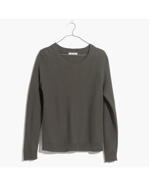 Madewell | Green Province Cross-back Pullover Sweater | Lyst