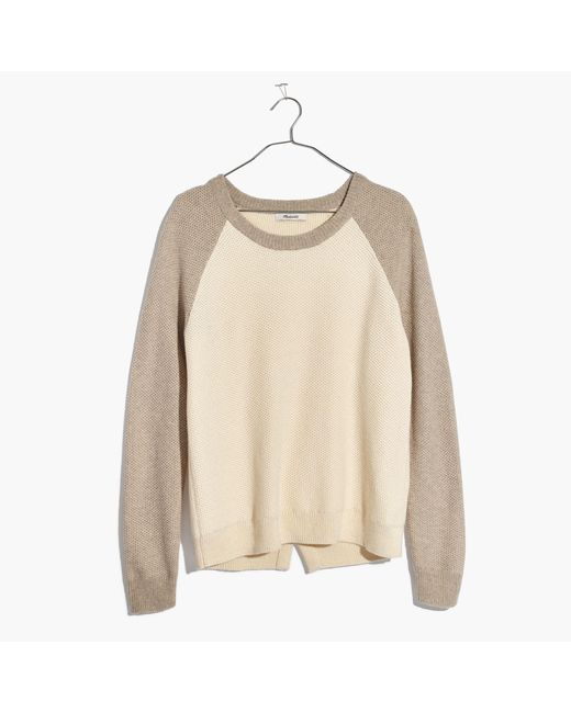 Madewell   Multicolor Province Cross-back Pullover Sweater In Colorblock   Lyst