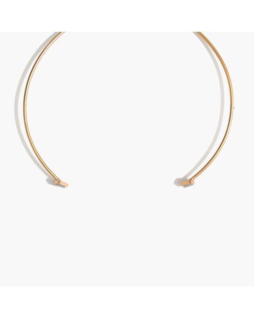 Madewell | Metallic Fan Choker Necklace | Lyst
