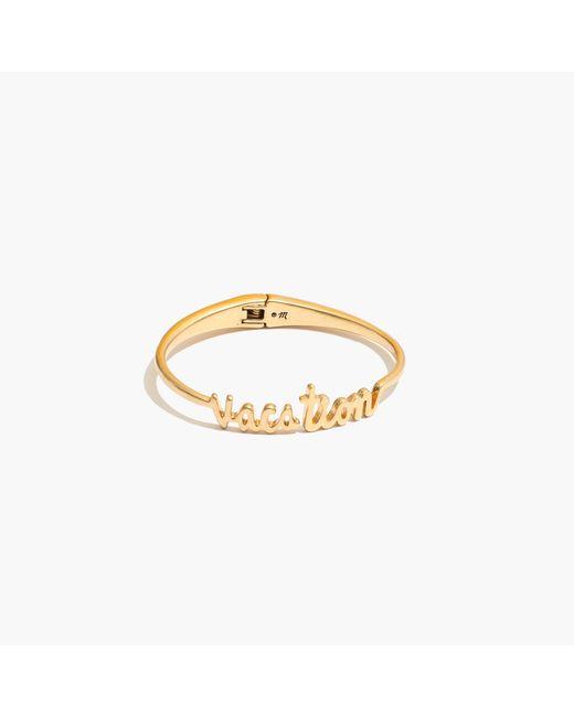 Madewell | Metallic Vacation Hinge Bracelet | Lyst