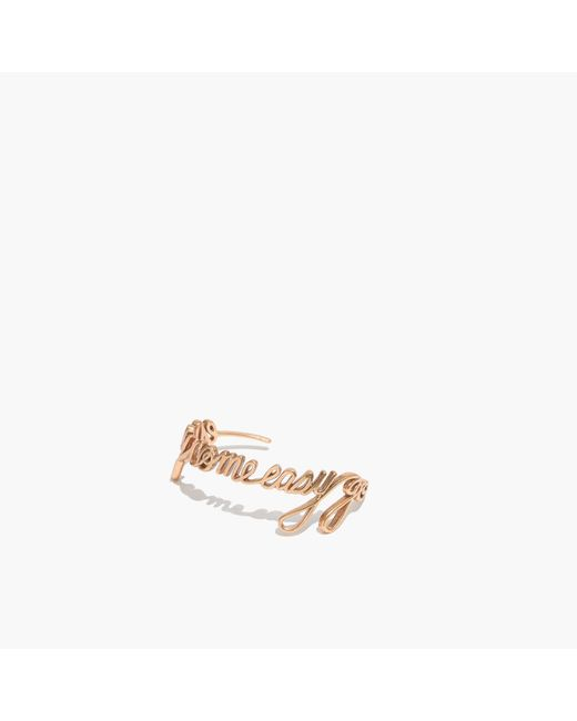 Madewell | Metallic Easy Come Easy Go Cuff Bracelet | Lyst